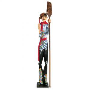 ausgefallene große figur, gondoliere mit paddel, venizianisch