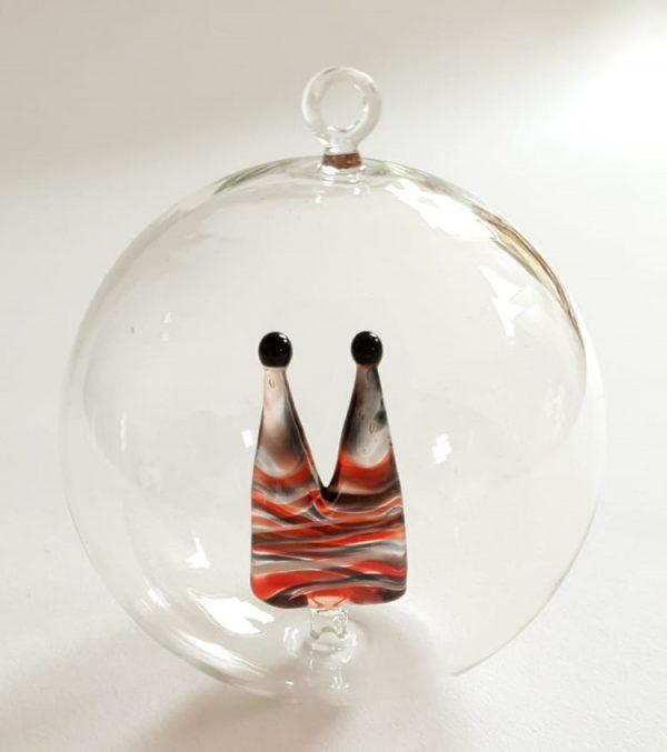 Christbaumkugel mit Dom aus Glas