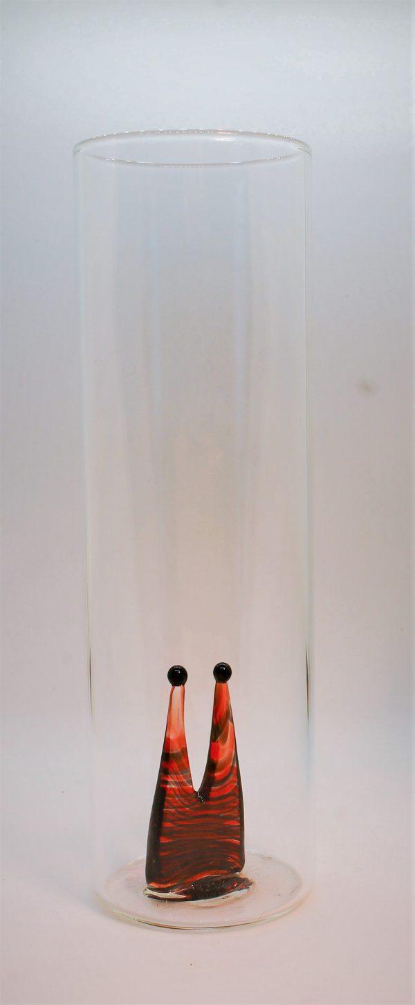 Domglas-Dom-rot-schwarz