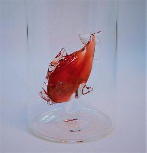 Domglas-Fisch-rot-detail