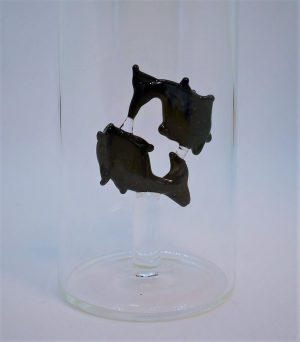 Domglas-Fische-schwarz-detail
