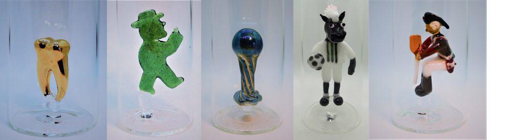 Zahn, Ampelmännchen, Weltpokal im Glas