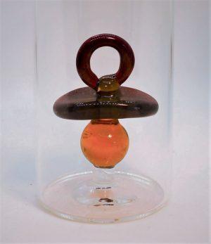 Domglas-Schnuller-rot-detail