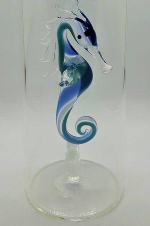 Domglas-Seepferdchen-blau-tuerkis-detail