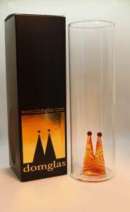 Domglas Verpackung mit Kölschglas Dom bernstein