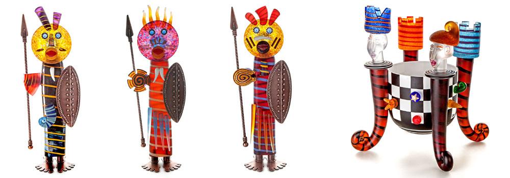 Figuren von Borowski aus glas