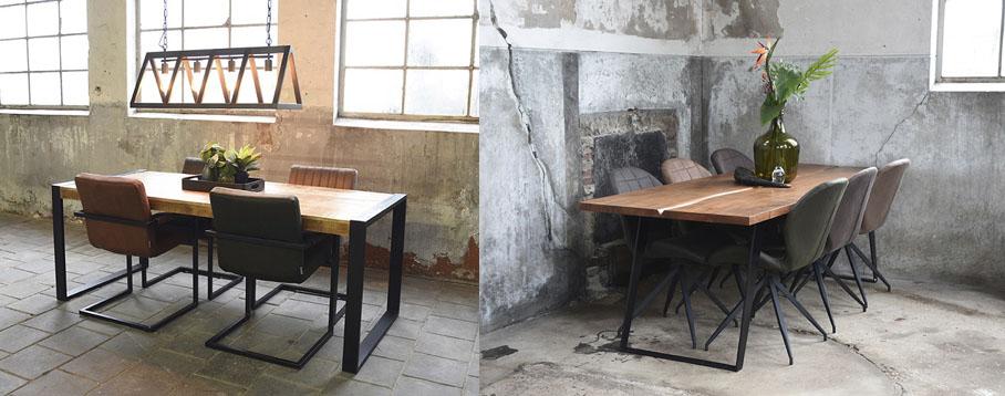 Tische im Loft mit Stühlen