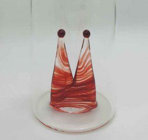 Domglas Kölschglas mit Dom rot