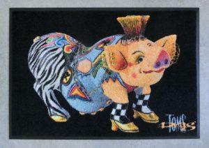 toms-drag-art-fussmatte-floormat-schwein-pig-vivienne