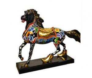 Pferd Black Beauty M - Tom's Drag ArtHorse Black Beauty M - Tom's Drag Art